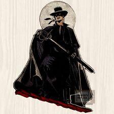 "The Zorro Big Patch TV Series Guy Williams Diego de la Vega 12"" Mask Embroidered"