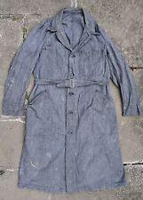 Trapunta Vintage 40s 50s francese SALT & PEPPER Cotone Con Cintura DUSTER shop Cappotto delle faccende domestiche Giacca S/M