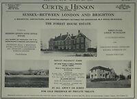 Forest House Estate Mount Pleasant Farm Sussex Agent Details 1956 1 Page Advert