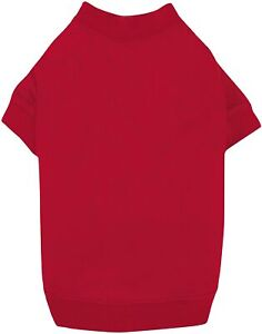 Zack & Zoey Basic Tee Shirt for Dogs, Red, Medium