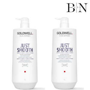 GOLDWELL DualSenses Just Smooth Smoothing Shampoo & Conditioner 1000ml DUO+ PUMP