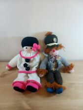 Vintage 1980's Hand Knitted Dolls