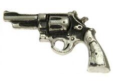 "(#M410) PISTOL Pewter Vest / Hat Pin 1.5"" x 0.75"" Biker Jacket"