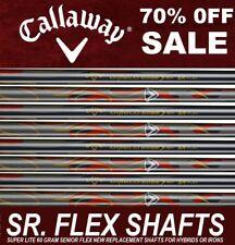8 New Callaway LITE 60i GRAM SOFT SENIOR SR Flex Graphite Iron Shaft set .370