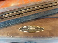 Vintage Early David White Surveyor Transit Level Case Tripod Shot Stick