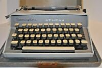 Antique Typewriter REMINGTON ATHENA case key portable manual vintage lot