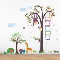 Jungle Zoo Mural Grass Animals Tree Kids Nursery Decal Wall Sticker 188cm x156cm