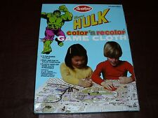 Vintage Incredible Hulk Color Recolor Game Cloth Marvel Avengers Rare NIMB 1979