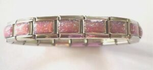 Italian Charms Charm Pink Glitter Starter Bracelet