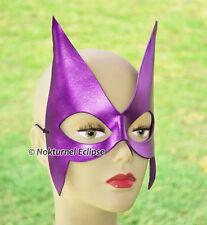 Purple Huntress Leather Mask Superhero Villain Arrow Batman Halloween Costume
