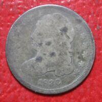 1836 Bust Dime , GOOD , 90% Silver US Coin!
