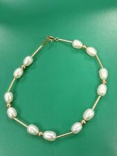 """Freshwater Cranberry dyed Pearls 6-7mm strand 18/""""  YG filled clasp necklace NWOT"""