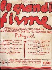 LE GRANDI FIRME 12 numeri vari Anno I e II (1924-1925) rilegati Pitigrilli