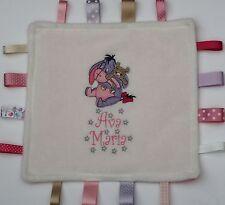 Bourriquet soft taggy blanket superbe satin rubans bébé fille/garçon cadeau personnalisé