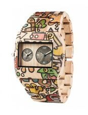 Orologio in legno WeWood - JUPITER WOOP Dogboat beige Wood Watch