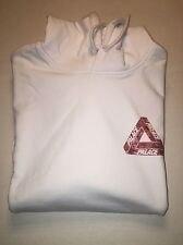 PALACE SKATEBOARDS SKELEDON TRI FERG HOODED SWEATSHIRT WHITE S SMALL