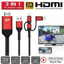 for iPhone XS Lightning to HDMI Adapter 1080p HDTV TV Video USB Cable Converter