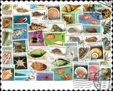 Sea Shells : 100 Different Stamps Collection