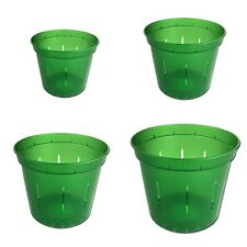 Growers Assortment - Green Emerald Slotted Orchid Pots (4 pots, 1 of each size)