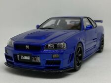 1:18 OttO Nissan Skyline GT-R R34 Z-Tune Blau OVP / blue with box