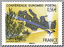 france ca 2009 Conférence Euromed Postal map europe olive trees and Mediterranea