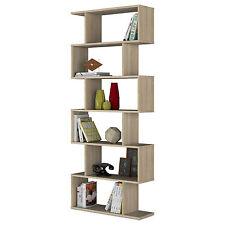 Ciara 6 Tier Bookcase Living Room Divider Display Shelf Unit Oak