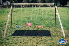 MISSISSIPPI QUADRUPLE - Heavy Duty Quad Wooden Swing Set, Pressure Treated, Kids