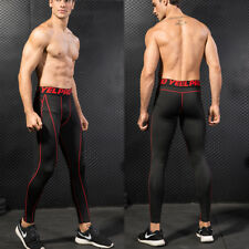 Men's Compression Tight Athletic Running Quick-dry Gym Base Layer Black SZ L