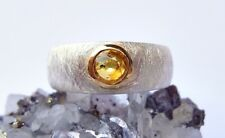 SCHMUCK-STCK RING SILBER Safir NEU 52 16,5 vergoldet