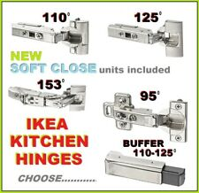 IKEA UTRUSTA HINGES SOFT CLOSERS DAMPERS 125 95 110 153 KITCHEN.SOLD IN PACKS 2