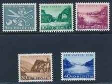 Schweiz Nr. 627-631 postfrisch / **, Pro Patria 1956 (39125)