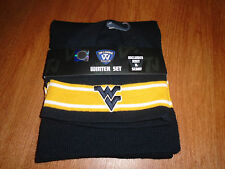 New Mens Womens Scarf Hat Stocking Cap 2 Pc set West Virginia College Acrylic