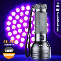 51 LED Flashlight 395 nM UV Ultra Violet Blacklight Torch Light Lamp Aluminum AU