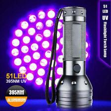 51 LED Flashlight 395 nM UV Ultra Violet Blacklight Torch Light Lamp Aluminum