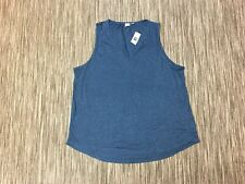 Gap Women's Sleeveless Viscose Vest Top In Blue Size XL RRP£15