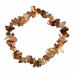 Red Agate Bracelet Chip Bead Stretch Bracelet 53mm