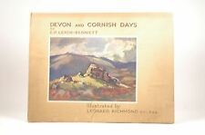 Devon and Cornish days, E.P. LEIGH-BENNETT - Unknown Hardcover Book