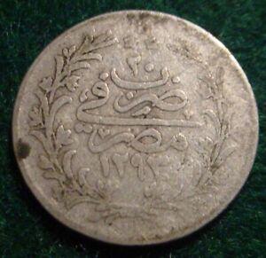 1894 SILVER(1293/20)   2 QIRSH EGYPTIAN OTTOMAN EMPIRE****