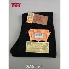 LEVI'S jeans LEVIS 501 original uomo denim colore NERO Dritto Stright nuovi