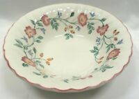 "Churchill England Briar Rose Round 9"" Veg. Bowl Pink Purple Yellow Flowers"