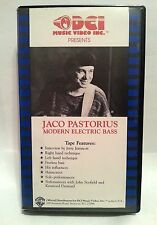 JACO PASTORIUS : MODERN ELECTRIC BASS 1985 VHS INTERVIEW, STYLES & PERFORMANCE!!