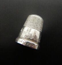 Victorian Silver Souvenir Thimble International Exhibition South Kensington 1862
