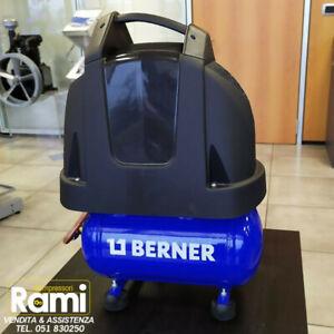 Compressore aria portatile 6 lt Berner gruppo coassiale a secco - 8 bar