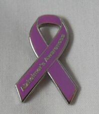 *NEW* Alzheimer's Awareness ribbon enamel badge / brooch. Dementia, Charity.