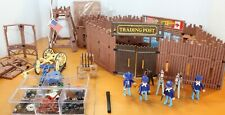 PLAYMOBIL Trading Post & Headquarters Western ~ 1990's Vintage ~ Lot of Many