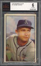1953 Bowman Color Bobby Shantz #11 - Philadelphia Athletics - BVG 6 - EX-MT