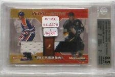 "2001/02 Gretzky/Lemieux BAP ""Trophies"" Jersey Card 14 of 25 Graded 8.5"