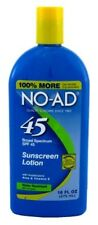 (3 Pack) NO-AD SPF#45 SUNSCREEN LOTION 16 Ounce