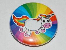 RAINBOW UNICORN 25MM / 1 INCH BUTTON BADGE CUTE GAY