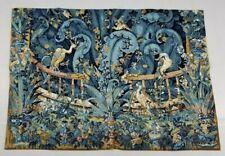 Vintage French Medieval Scene Handmade Cross Stitch Tapestry (115X83cm)